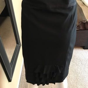 INC Pencil Skirt with Ruffled Detail sz 16